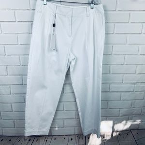 Lacoste cropped high waist pleated front pants 14